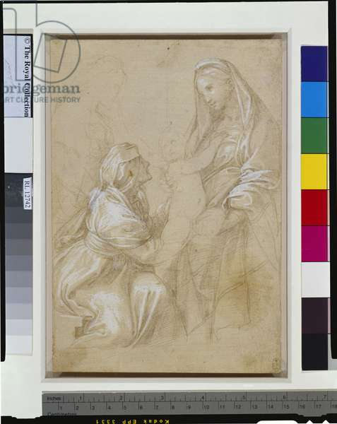 The Virgin and Child with St Elizabeth, c.1512 (metalpoint with white heightening on paper)