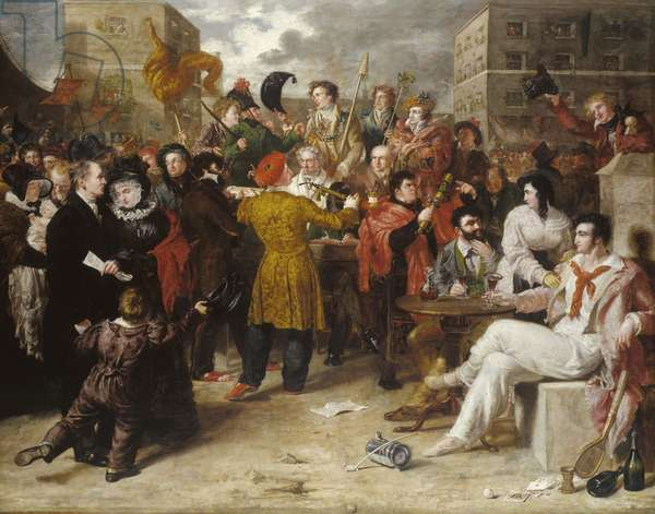 The Mock Election, 1827 (oil on canvas)