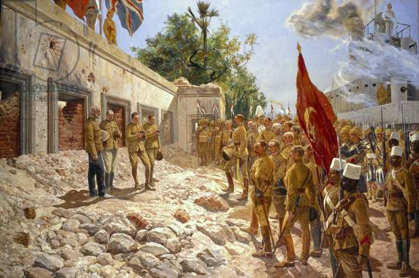 The Memorial Service for General Gordon, 4th September 1898, 1899 (oil on canvas)