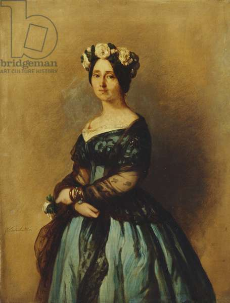 Augusta of Saxe-Weimar, Princess of Prussia, later Queen of Prussia and German Empress, 1846 (oil on canvas)