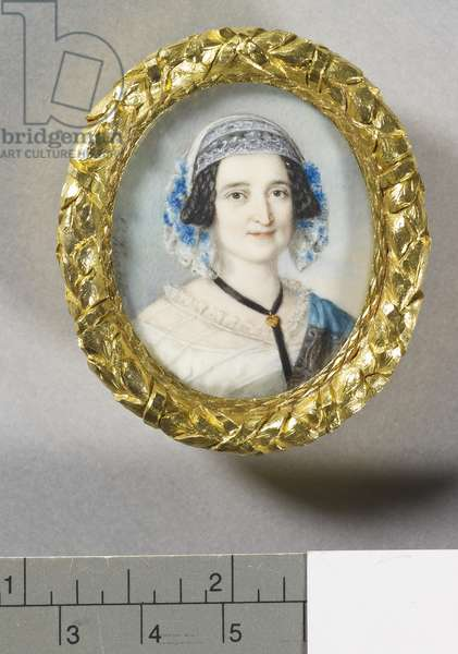 Louise, Baroness Lehzen, c.1842 (w/c on ivory laid on card)