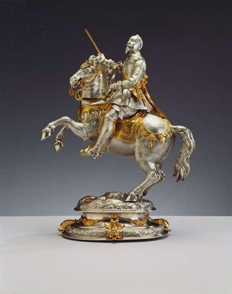 Equestrian statuette of Gustavus II Adolphus of Sweden, c.1630 (silver-gilt)