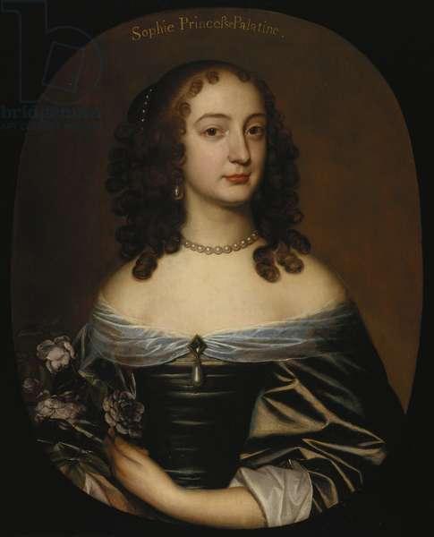 Princess Sophia, later Duchess of Brunswick-Lüneburg, Electress of Hanover, 1648 (oil on panel)