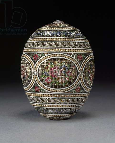 Mosaic egg, 1914 (mixed media)