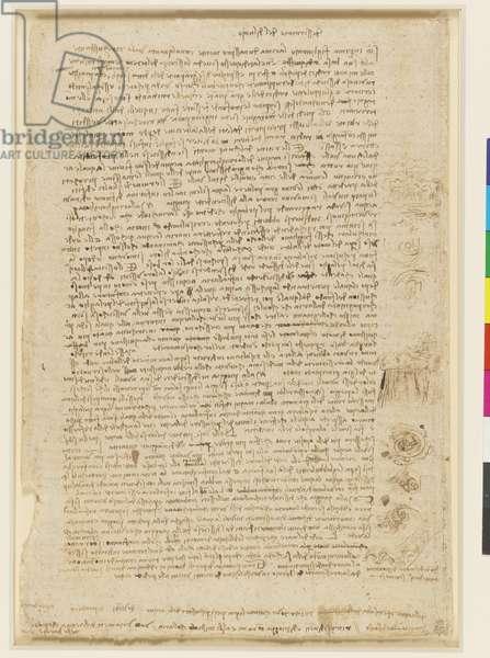 A description of a deluge, with marginal sketches, c.1517-18 (pen & ink)