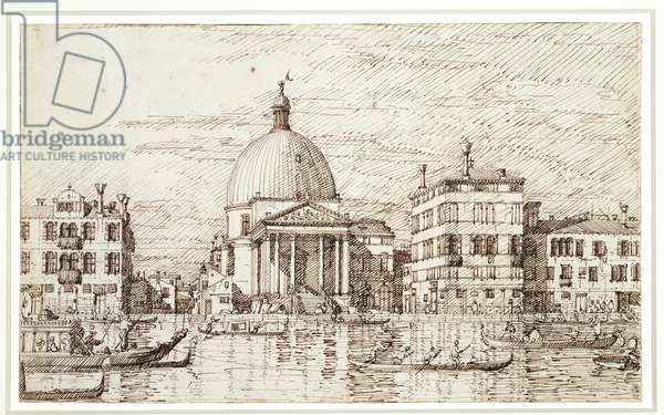San Simeon Piccolo, c.1735-40 (pencil, pen & ink on paper)