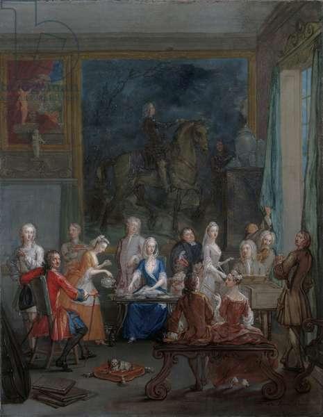 A musical tea-party, 1740 (oil on canvas)