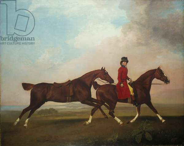 William Anderson with two saddle-horses, 1793 (oil on canvas)