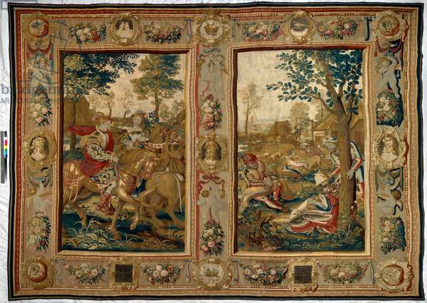 The Twelve Months: May and June, 1623 (woven silk and wool tapestry with gilt-metal- and silver-wrapped thread)