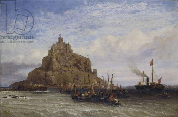 The Royal Yacht Passing St Michael's Mount, 1847 (oil on panel)