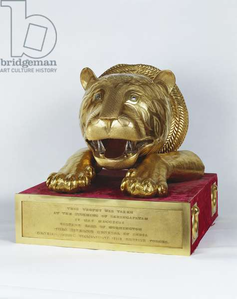 Gold Tiger's Head, 1785-93 (gold, rock crystal & wood core)
