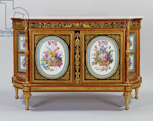 Cabinet, c.1783 (oak cabinet veneered with tulipwood, purplewood, mahogany and boxwood)