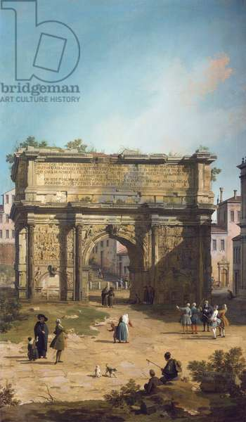 Rome: The Arch of Septimus Severus, 1742 (oil on canvas)