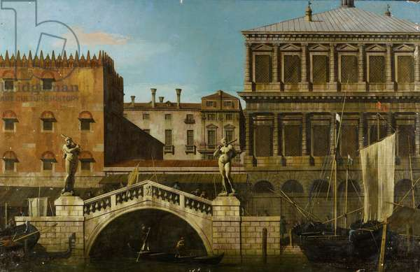 Venice: Caprice View of the Zecca and Granaries with the Ponte della Pescaria, c.1744 (oil on canvas)