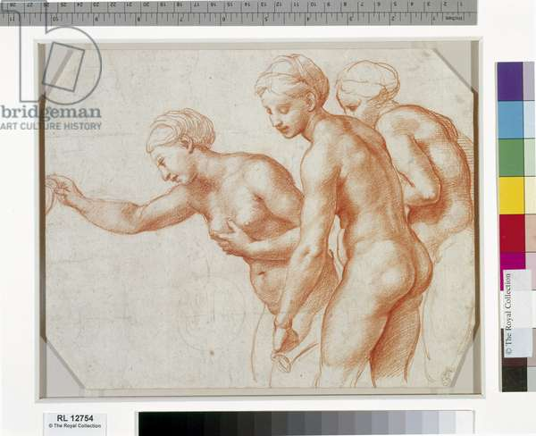 The Three Graces, c.1517-18 (red chalk on paper)