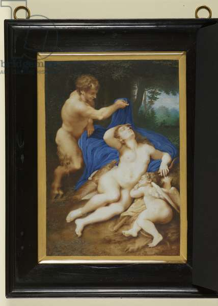Venus, Cupid and a satyr, 1633 (w/c & bodycolour on paper)