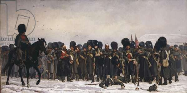 The Roll Call, 1874 (oil on canvas)