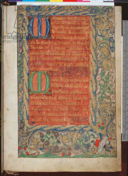 f.3r, Register of the Guild of St Anne, c.1476 (gold & bodycolour on vellum)