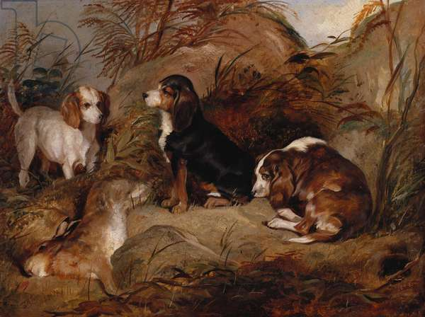 Dunster, Wagtail and Dandy, 1843 (oil on canvas)