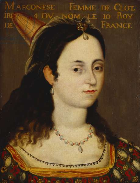 Queen Marconese, consort of Clothaire IV, King of France, c.1600-70 (oil on canvas)