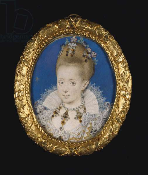Princess Elizabeth, later Queen of Bohemia, c.1610 (w/c on vellum laid on card)