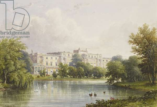 Buckingham Palace: garden front from across the lake, 17th August 1839 (w/c & gouache on paper)