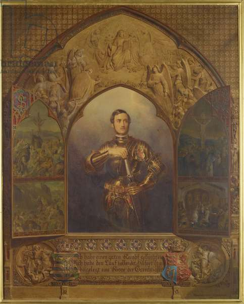 Memorial portrait of the Prince Consort, 1863 (w/c on paper)