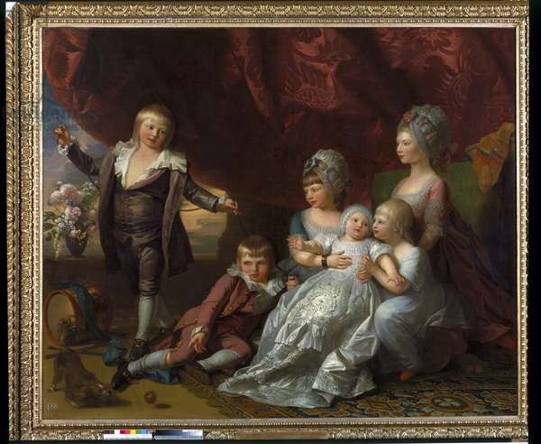 Princess Augusta, Princess Elizabeth, Prince Ernst, Prince Augustus, Prince Adolphus and Princess Mary, 1776 (oil on canvas)