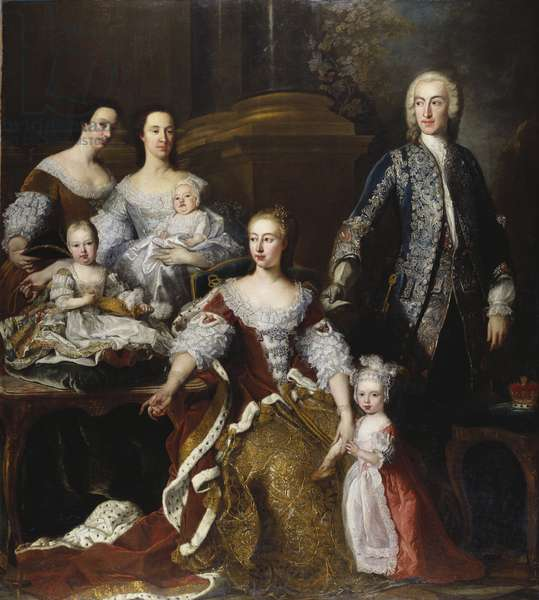Augusta, Princess of Wales with Members of her Family and Household, 1739 (oil on canvas)