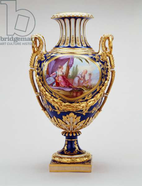 Vase jardin, c.1773 (soft-paste porcelain & gilt bronze)