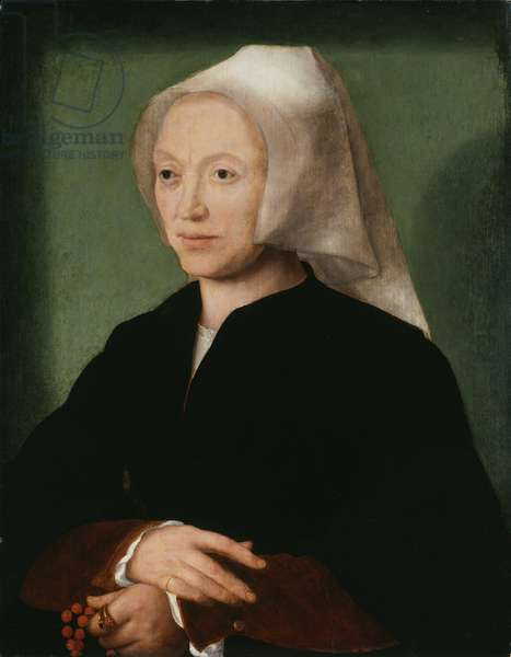 Katlijne van Mispelteeren, the Artist's Wife, 1530-35 (oil on panel) (pair of 397494)