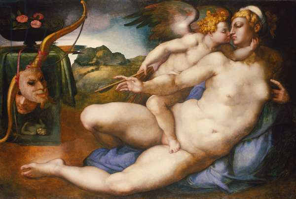 Venus and Cupid, c.1543 (oil on panel)