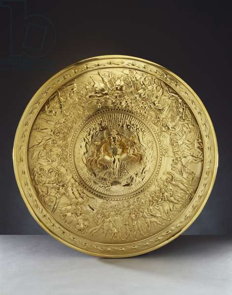 The Shield of Achilles, 1821 (silver gilt)