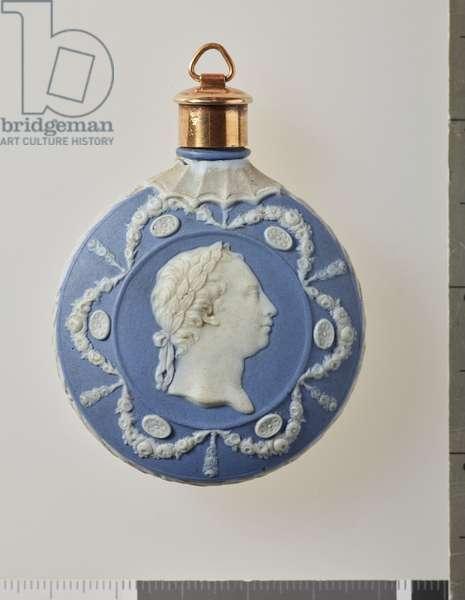 Scent bottle, c.1785 (jasper ware & gold)