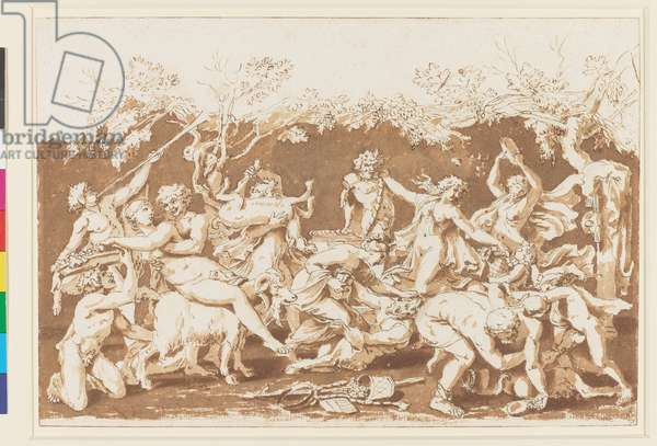 The Triumph of Pan c.1635 (pen & ink with wash, over black chalk & stylus)