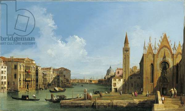 The Grand Canal looking east from the Carita towards the Bacino, c.1727-78 (oil on canvas)