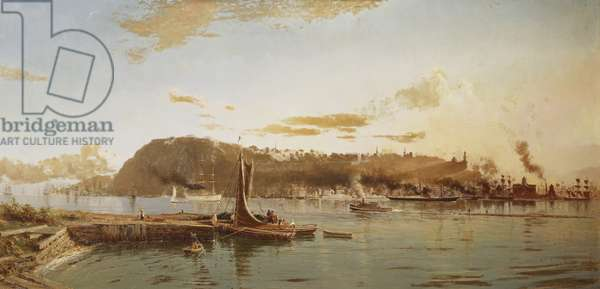 Quebec from Pont Lévis, 1881 (oil on canvas)
