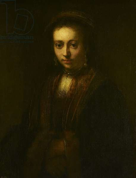Portrait of a Lady with Hands Folded, c.1640-90 (oil on canvas)