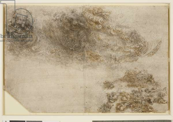 A tempest, c.1517-18 (pen & ink, chalk, wash and heightening on paper)