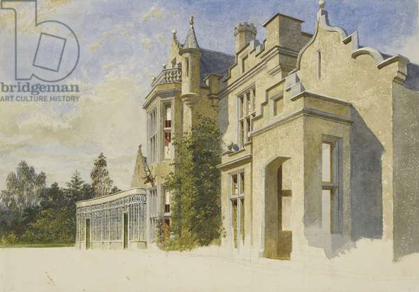 Old Balmoral: South Front of Castle (w/c on paper)