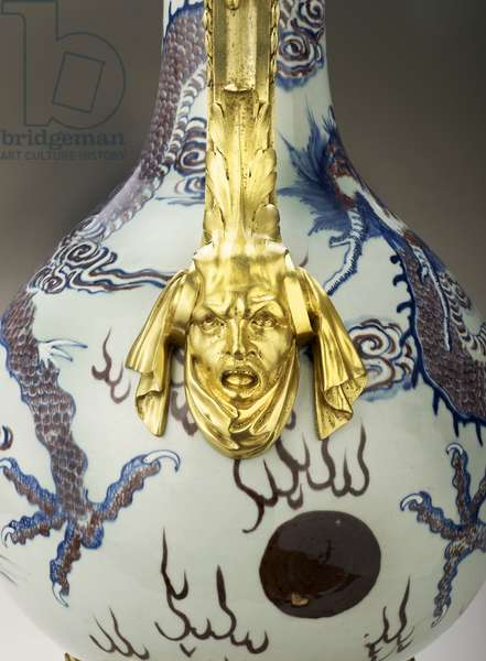 Detail of a Vase, Jingdezhen, Jiangxi Province, China (porcelain with gilt-bronze mounts)