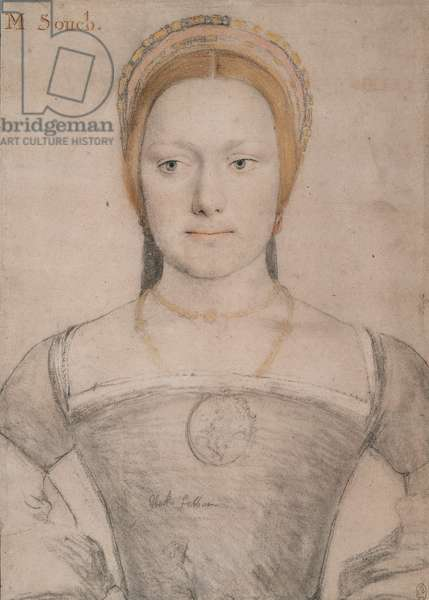 Mary Zouch, c.1532 (pen & ink with chalk on paper)