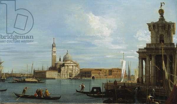 Venice: The Punta della Dogana and S. Giorgio Maggiore (oil on canvas)