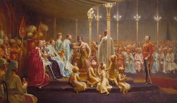 Investiture of the Star of India, Delhi, 1914 (oil on canvas)