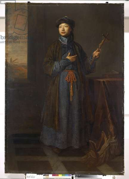 Michael Alphonsus Shen Fu-Tsung, 'The Chinese Convert', 1687 (oil on canvas)