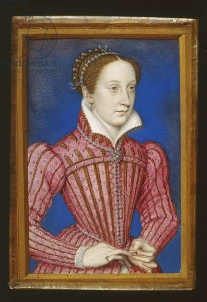 Mary, Queen of Scots, 1558 (w/c & body colour on vellum rebacked with card)