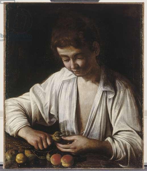 Boy Peeling Fruit, c.1592-3 (oil on canvas)