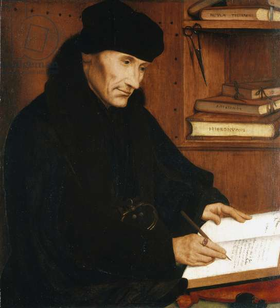 Desiderius Erasmus, 1517 (oil on panel)