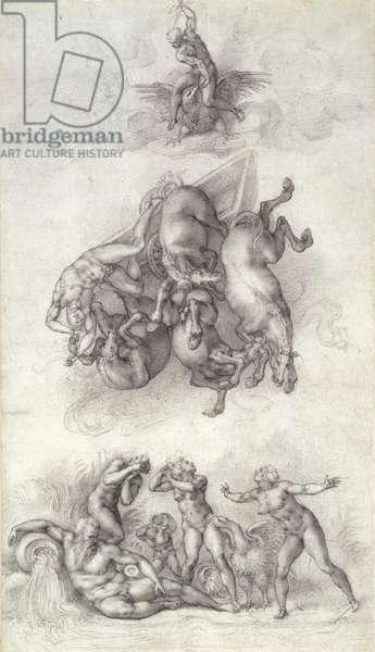 The Fall of Phaeton, 1533 (chalk on paper)