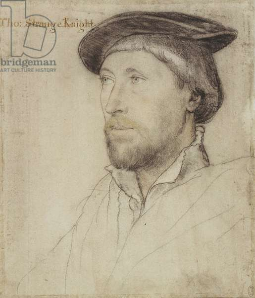 Sir Thomas Lestrange, c.1536 (chalk, pen & ink and metalpoint on paper)